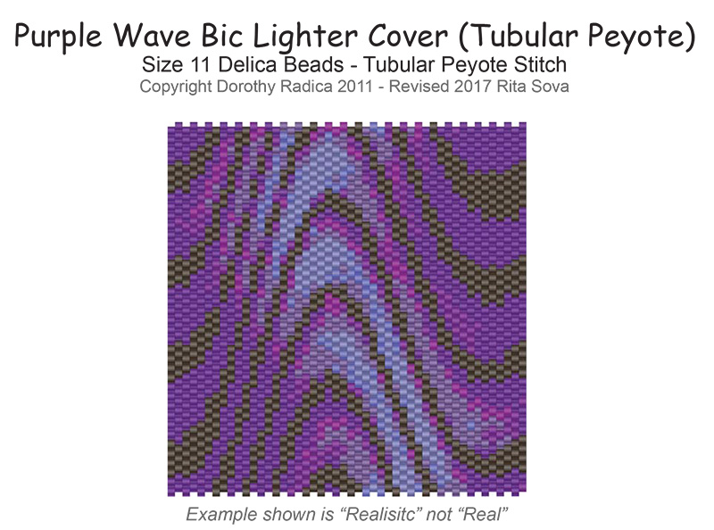 Purple Wave Lighter Cover