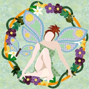 723-01 The Spring Fairy Wreath