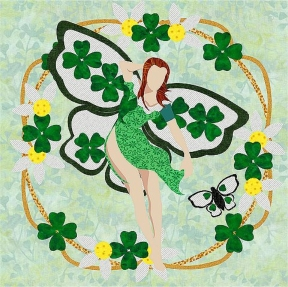 750-3 St. Patricks Day Fairy Wreath