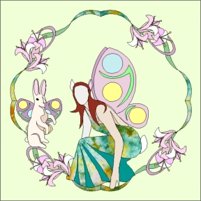 750-4 April Easter Fairy Wreath