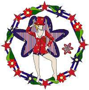 750-7 The 4th Of July Fairy Wreath