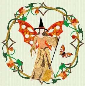 750-10 The Halloween Fairy Wreath
