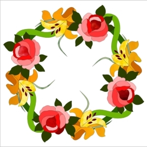 582-2 Summer Wreath