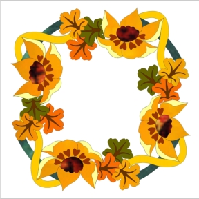 582-3 Fall Wreath