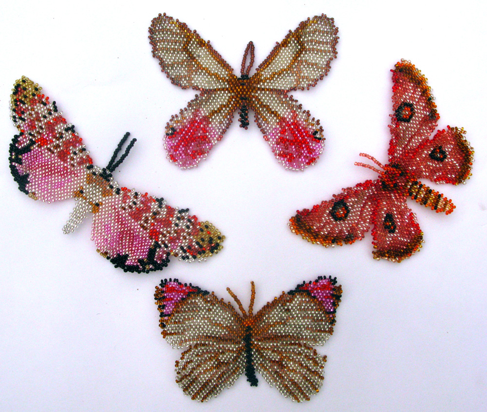 4 Pink Butterflies and Moths