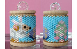 Easter Mouse Spool Ornament