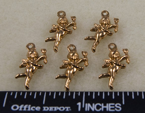 Cupid Charms, Brass Gold (8 per Package)