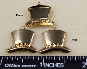 Hat Charms, Gold (6 per package)