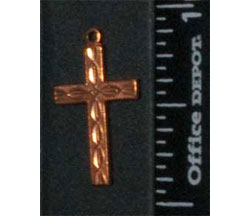 Charms, Cross, Copper (6 per Package)