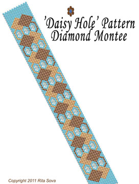 'Daisy Hole' Pattern - Diamond Montee