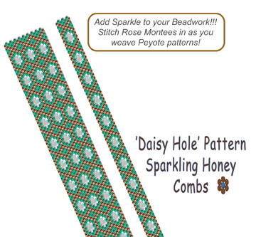 'Daisy Hole' Pattern - Sparkling Honey Combs