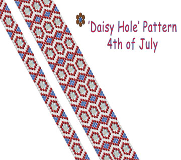 'Daisy Hole' Pattern - 4th of July