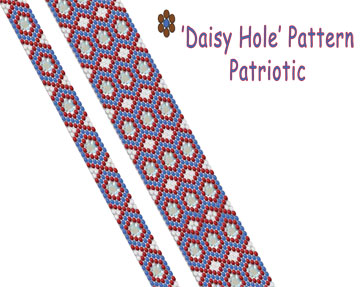 'Daisy Hole' Pattern - Patriotic