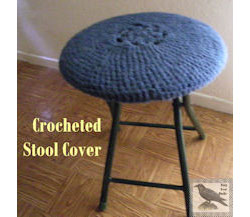 Crocheted Seat Cover for Stool Seat