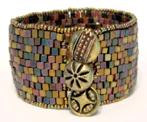Three Button Peyote Cuff