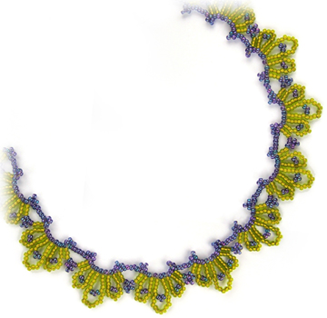 Blue Chartreuse Necklace