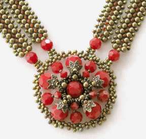 Vintage Fire Necklace