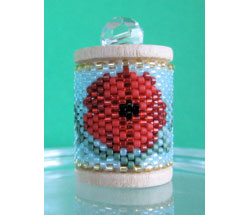 Poppies Spool Ornament