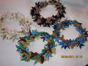 Twisted leaf fringe bracelets