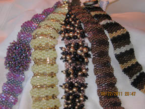 Undulating peyote bracelets