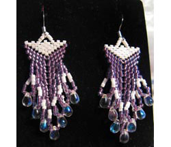 Double Beaded Triangle Earrings