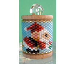Mouse Santa Spool Ornament