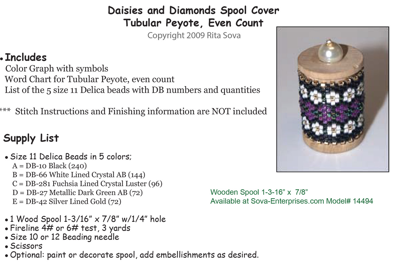 Daisies & Diamonds Spool Cover
