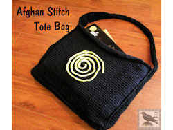 Afghan Stitch Tote Bag
