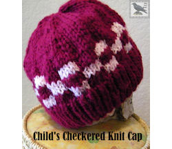 Childs Checkered Knit Cap