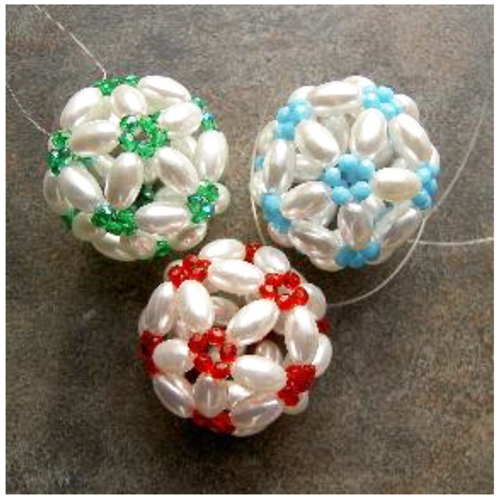 Pearl Icosahedron Holiday Ornament