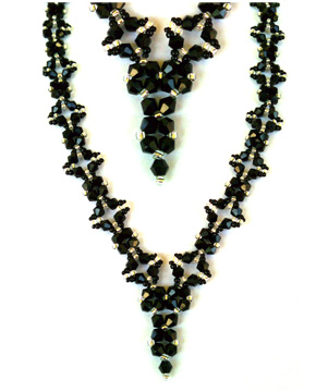 Black Diamond Deep V Necklace