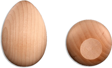 "Wooden Egg 2-1/2"" (6.35cm) x 1-3/4"", 1 per package"