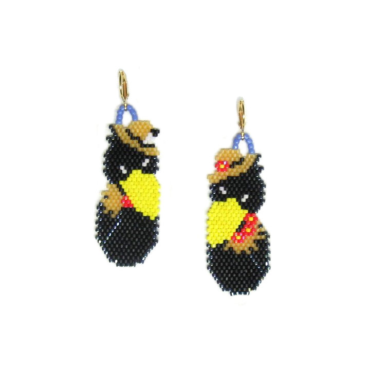 Harvest Crows Earrings