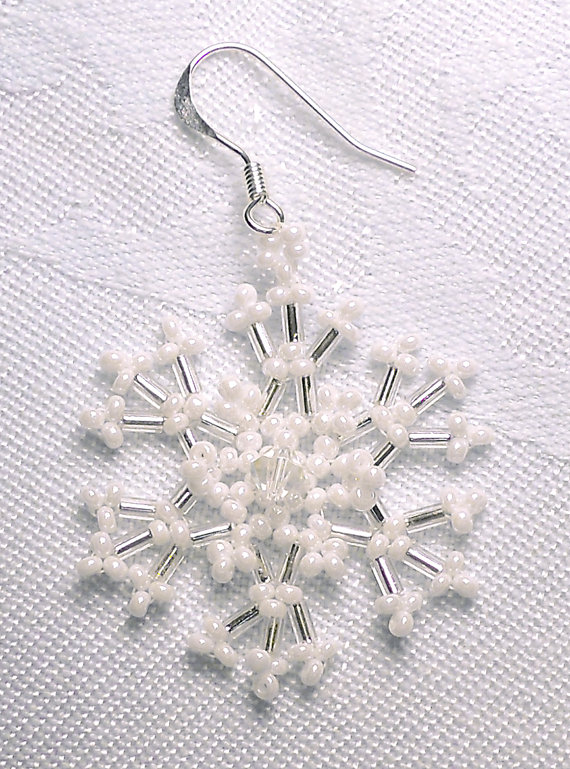 Lacy Snowflake Earrings