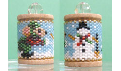 Mouse & Snowman Spool Ornament