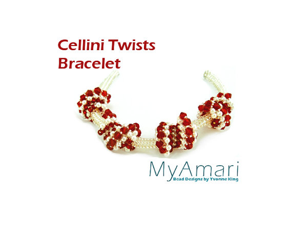 Candy Cane Cellini Twists Bracelet