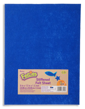 "Stiff Felt 9"" x 12"" x 1.5mm - Royal Blue"