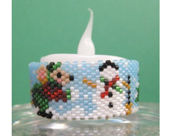Mouse & Snowman Tea Light Cover