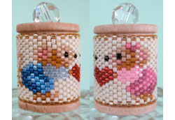 Mouse Valentine Spool Ornament