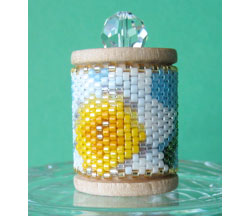 Daffodil (Narcissus) Spool Ornament