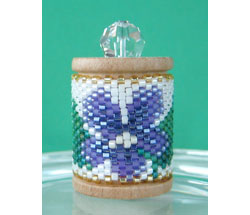 Violets Spool Ornament