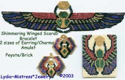 4 Piece Shimmering Winged Scarab Set (Full Color Charts/Graphs)