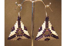 Crystal Windows Triangle Earrings