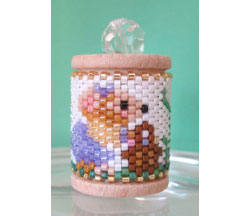 Missy Mouse Easter Spool Ornament