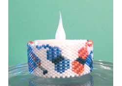 Knitting Tea Light Cover