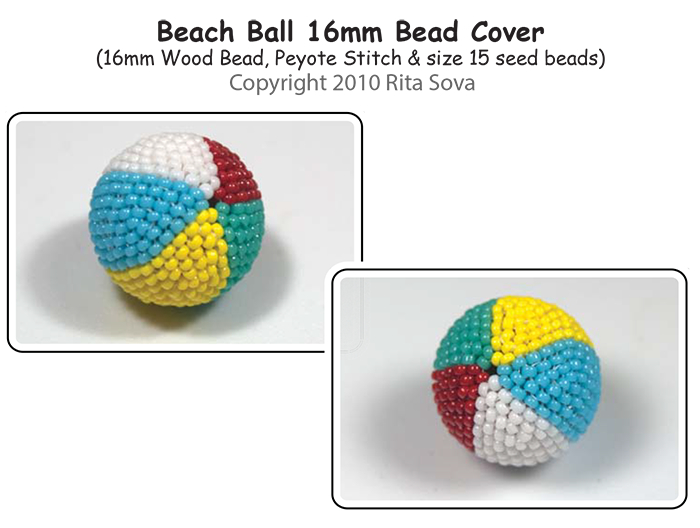 Beach Ball - Beaded Bead