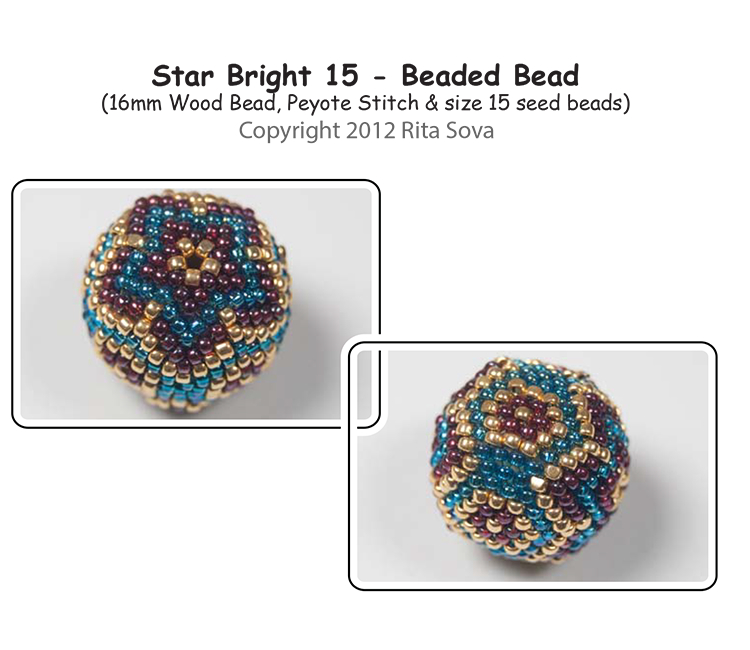 Star Bright 15 - Beaded Bead