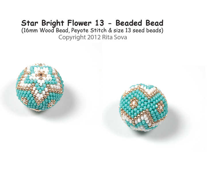 Star Bright Flower 13 - Beaded Bead