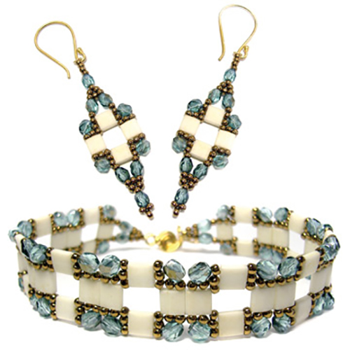 Tila Squared Bracelet and Earrings