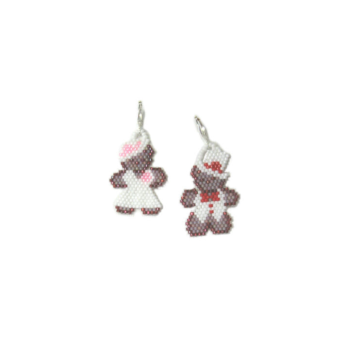 A Beary Happy Wedding Earrings